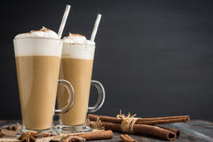 Coffee in glass Royalty Free Stock Photos