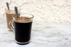 Coffee Glasses Stock Image