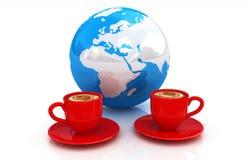 Coffee Global World concept Stock Photos