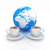 Coffee Global World concept Royalty Free Stock Photography