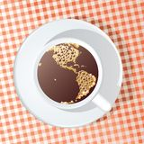 Coffee globe Americas Stock Images