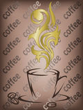 Coffee with the golden flavor Royalty Free Stock Images