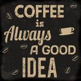 Coffee is always a good idea retro poster Stock Photos