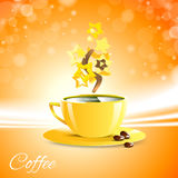 Coffee good morning with yellow cup Royalty Free Stock Photos