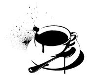 Coffee Graffiti Royalty Free Stock Photos
