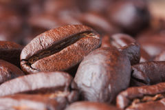 Coffee grain. Black coffee grain. Macro image Stock Photo