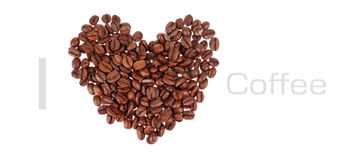 Coffee grain. Сoffee grain isolated on white background Stock Photography
