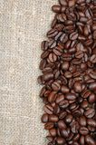 Coffee grain. On retro background Stock Photo