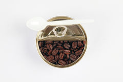 Coffee grain in can. Stock Photography