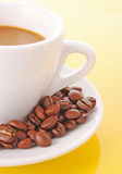 Coffee grain in cup Stock Image