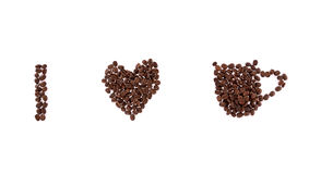 Coffee grain isolated on white background royalty free stock photos