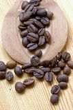 Coffee grains. Perfect grains of magnificent invigorating coffee Stock Photo