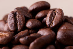 Coffee grains. Many coffee grains, macro,background Royalty Free Stock Photography
