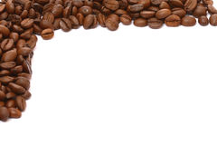 Coffee grains. On a white background Stock Image