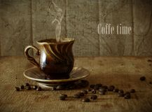 Coffee in grains Stock Photo