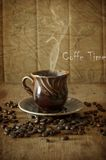Coffee in grains Royalty Free Stock Image