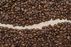 Coffee grains background Royalty Free Stock Photography
