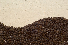 Coffee grains background Stock Image