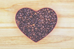 Coffee grains. Coffee beans in form of heart Royalty Free Stock Photos