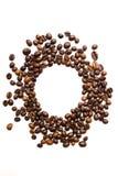 Coffee grains circle Stock Photo