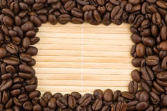 Coffee grains frame. Royalty Free Stock Photography