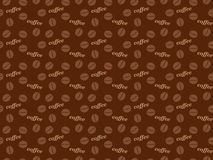 Coffee grains pattern Stock Images