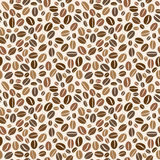 Coffee grains pattern Royalty Free Stock Image