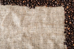 The coffee grains Stock Image