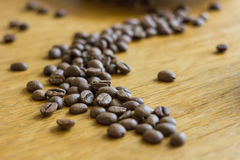 Coffee grains. On a table Stock Image