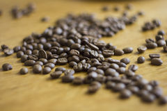 Coffee grains. On a table Royalty Free Stock Photo