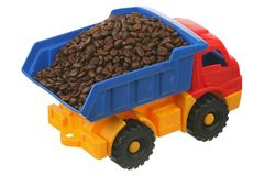 Coffee grains in the truck Royalty Free Stock Photography