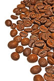 Coffee grains on a white background Royalty Free Stock Photos