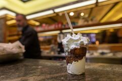 Free Coffee Granita With Whipped Cream In Rome Italy Stock Photography - 192349882
