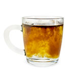 Coffee granulated in a glass mug Royalty Free Stock Photography