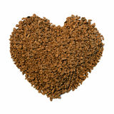 Coffee Granule Heart Royalty Free Stock Image