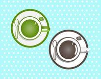 Coffee and green tea Stock Photos
