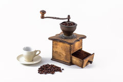 Coffee Grind. Old coffee mill isolated on white Stock Images