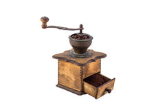 Coffee Grind. Old coffee mill isolated on white Royalty Free Stock Image