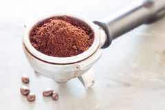Coffee grind in group with coffee bean Royalty Free Stock Images