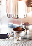 Coffee grind in group with coffee machine with vintage style Royalty Free Stock Photos