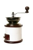 Coffee grinder. Isolated on the white background Stock Photos
