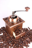 Coffee grinder. On white background Royalty Free Stock Photography
