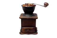 Coffee grinder. An old, brown coffee grinder Stock Image