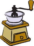 Coffee grinder. Hand operated coffee grinder for home use Royalty Free Stock Images