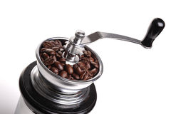 Coffee Grinder. Photograph of a coffee grinder shot in studio against a white background Stock Image