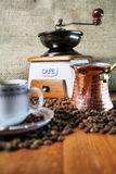 Coffee Grinder. Beautiful old-styled image of Coffee Grinder and cup Stock Photos