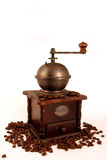 COFFEE GRINDER. Old rustic coffee grinder from Germany Royalty Free Stock Photo