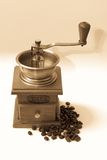 Coffee grinder. With beans in vintage tone Stock Photography