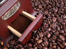 Coffee grinder. Roasted coffee Royalty Free Stock Image