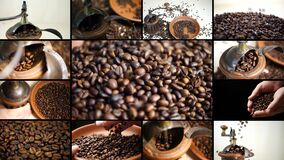 Coffee Grinder with Aromatic Roasted Coffee Beans